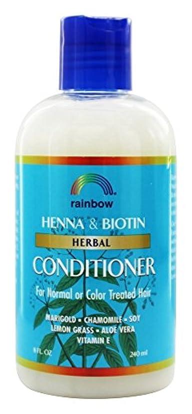 盆地回復する脈拍Rainbow Research - 有機ハーブ ヘナ ビオチン コンディショナー - 8ポンド [並行輸入品]