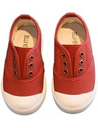 (ディアアンナ) DearAnna 子供用 スリッポン スニーカー 13.5~18㎝ 紐なし デッキシューズ 一人でさっと 履きやすい 歩きやすい ネイビー ピンク グレー イエロー
