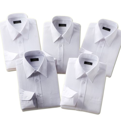 (フランコ コレツィオーニ)Franco Collezioni 55/45形態安定ワイシャツ5枚セット(ホワイト系) 50262  ホワイト系 LL
