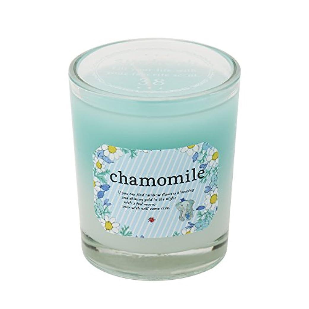 毒液偽軸サンハーブ グラスキャンドル カモマイル 35g(グラデーションろうそく 燃焼時間約10時間 やさしく穏やかな甘い香り)