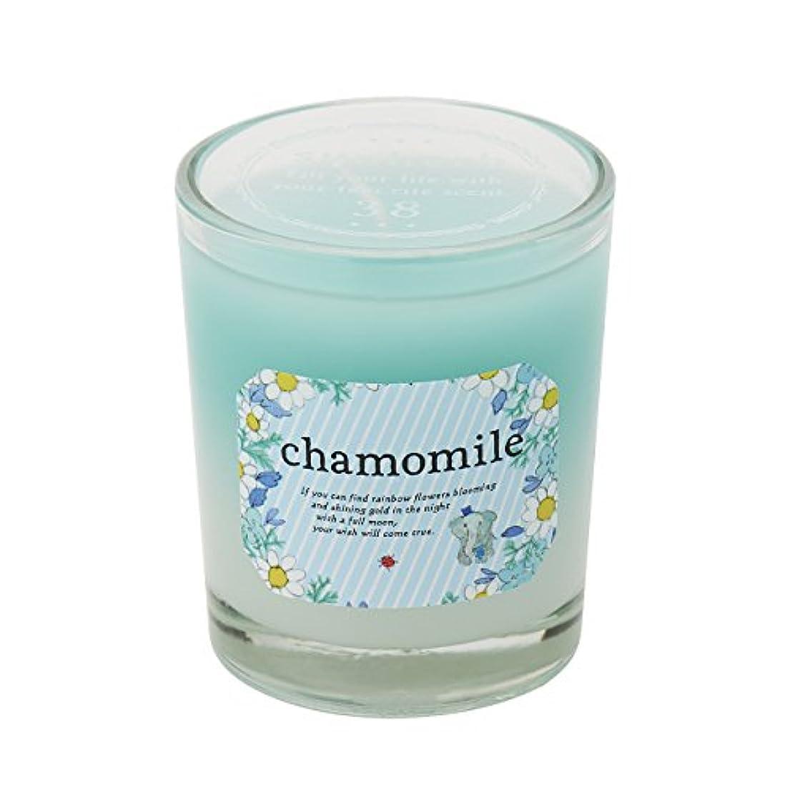 有益到着そうサンハーブ グラスキャンドル カモマイル 35g(グラデーションろうそく 燃焼時間約10時間 やさしく穏やかな甘い香り)