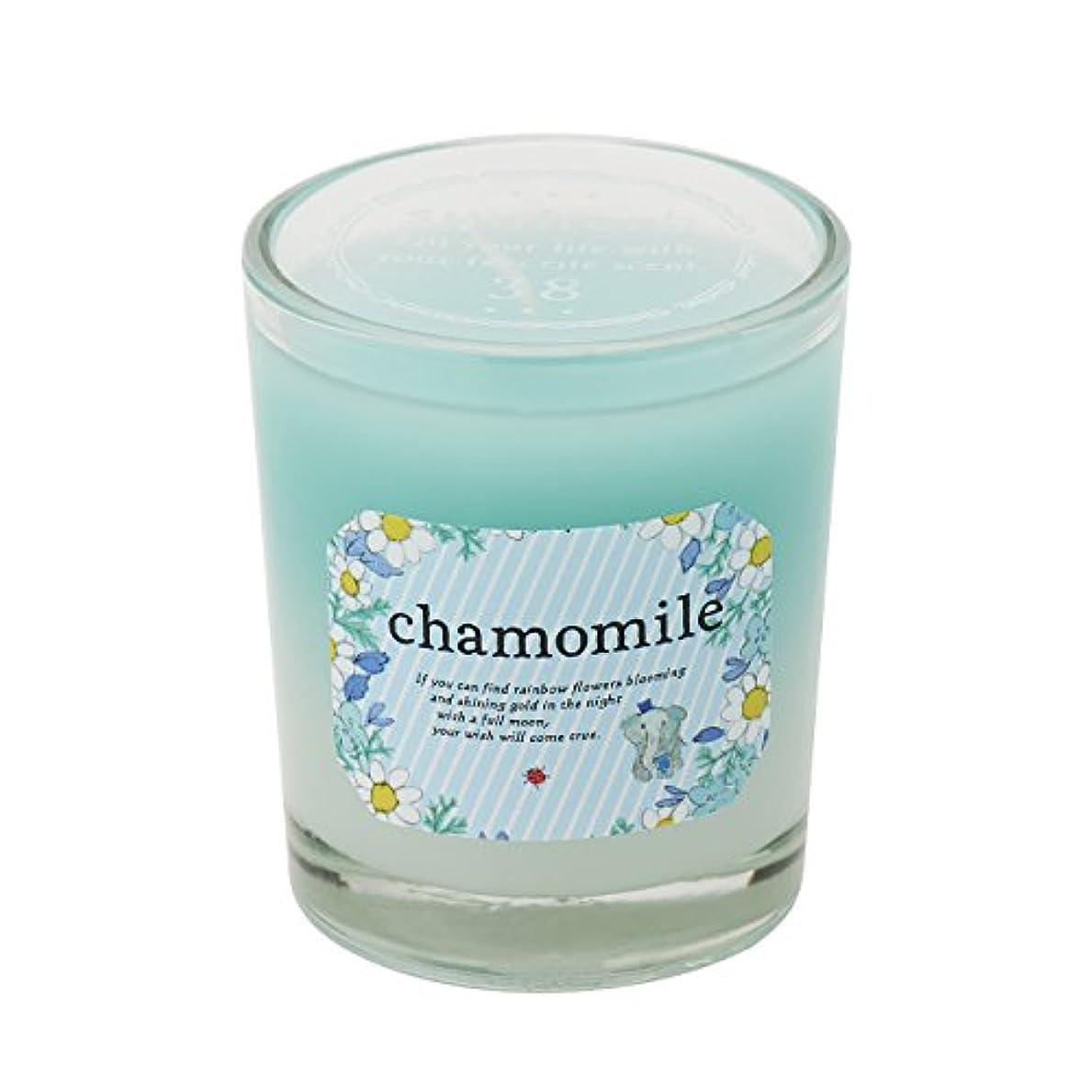 群れクリーム眉サンハーブ グラスキャンドル カモマイル 35g(グラデーションろうそく 燃焼時間約10時間 やさしく穏やかな甘い香り)