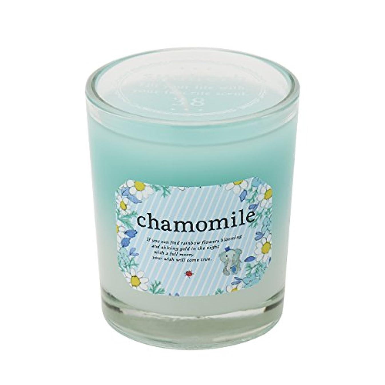 サンハーブ グラスキャンドル カモマイル 35g(グラデーションろうそく 燃焼時間約10時間 やさしく穏やかな甘い香り)