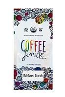 Coffee Junkie Rainforest Crunch Naturally Flavored Coffee Beans - 12 oz (Caffeinated, 12 oz)