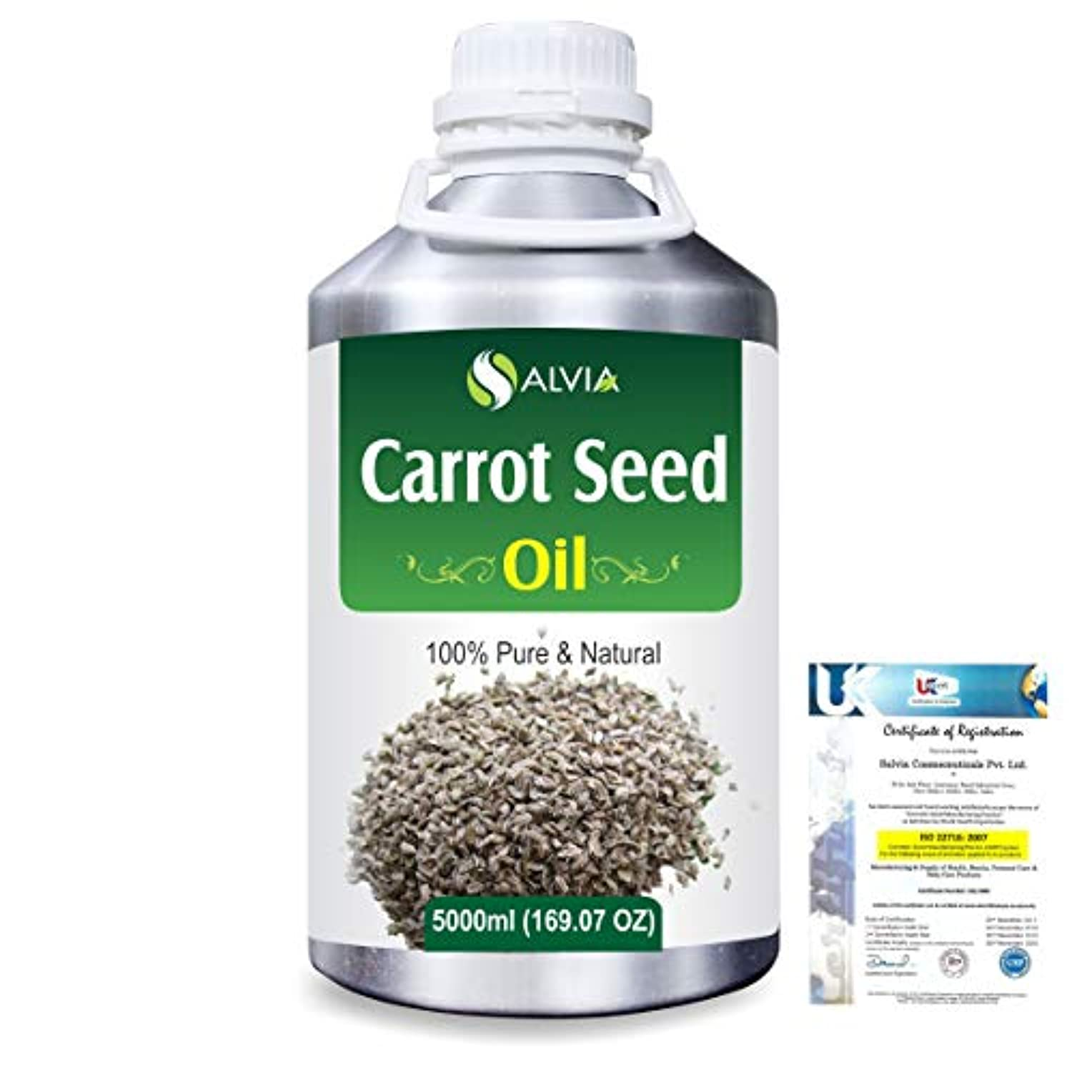 Carrot Seed (daucus carota) 100% Natural Pure Essential Oil 5000ml/169fl.oz.