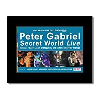 PETER GABRIEL - Secret World Live Matted Mini Poster - 21x13.5cm