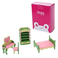 WjingjingJ 木製人形の家具セット、居間ミニ子供のための初期の教育的建物の贈り物幼児の少年少女の赤ん坊の家族