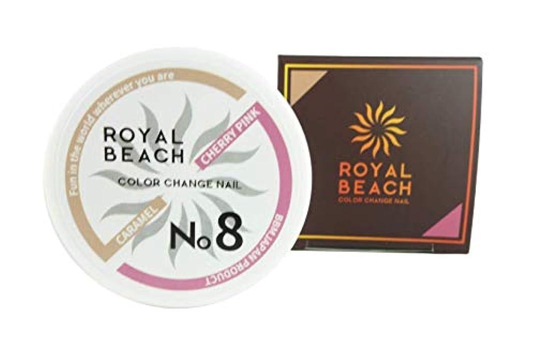 適性険しいそばにROIYALBEACH (ロイヤルビーチ) カラーチェンジ ジェルネイル 太陽で色が変わるジェルネイル 全10種 ネイルデザイン ジェルネイル (キャラメル & チェリーピンク)