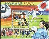 女子サッカー「なでしこジャパン」優勝の切手 ギニアビサオ2011年小型シート 澤穂希