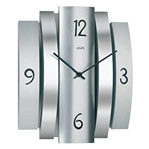 AMS(アムス) 時計 おしゃれ 壁掛け シンプル 四角 掛け時計 9385(N)