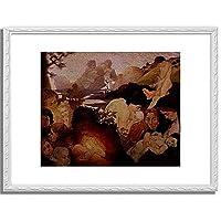 Maurin, Charles,1854-1914「La Maternite.」インテリア アート 絵画 プリント 額装作品 フレーム:装飾(白) サイズ:M (306mm X 397mm)