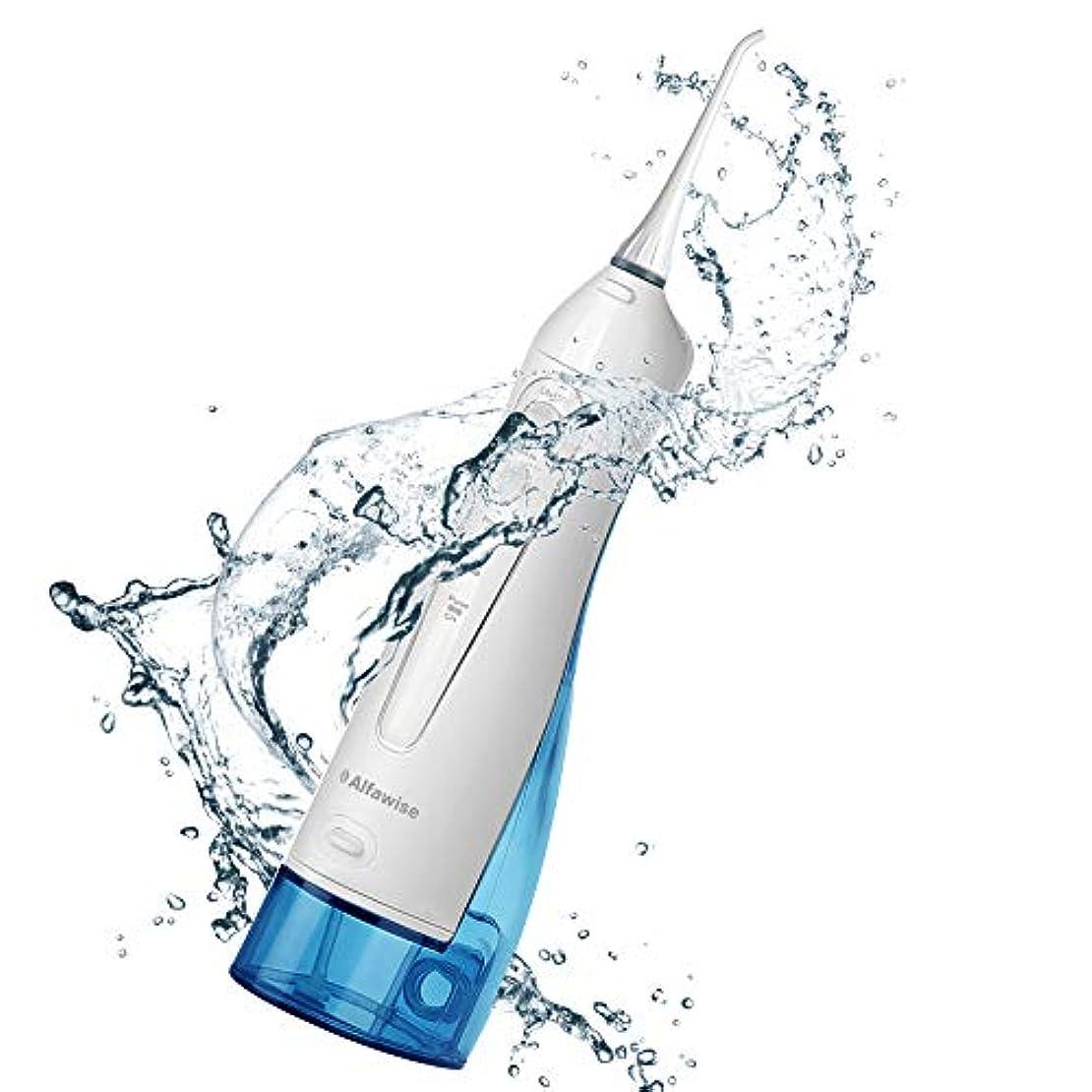 滴下いらいらする尾電動歯磨き器3種類のオプションモードIPX7防水?防塵360°回転小型ノズル充電式口腔洗浄器2ノズル