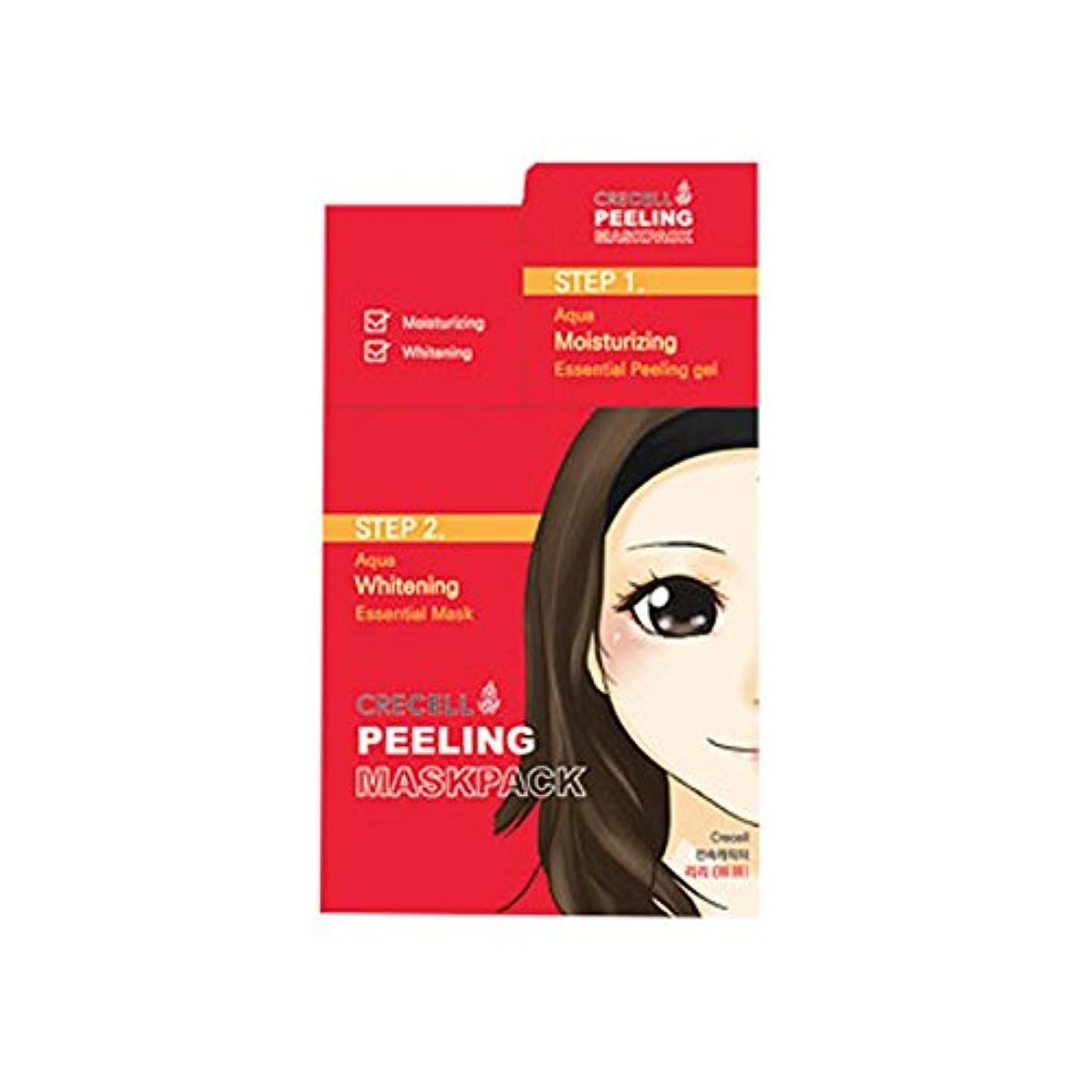 割り当てますグラマー記念品CRECELL Aqua Whitening Essential Mask 2STEP【クリセルアクアホワイトニングエッセンシャルマスク 2ステップ】シートマスク フェイスパック オールインワン 韓国コスメ - 1ステップ...