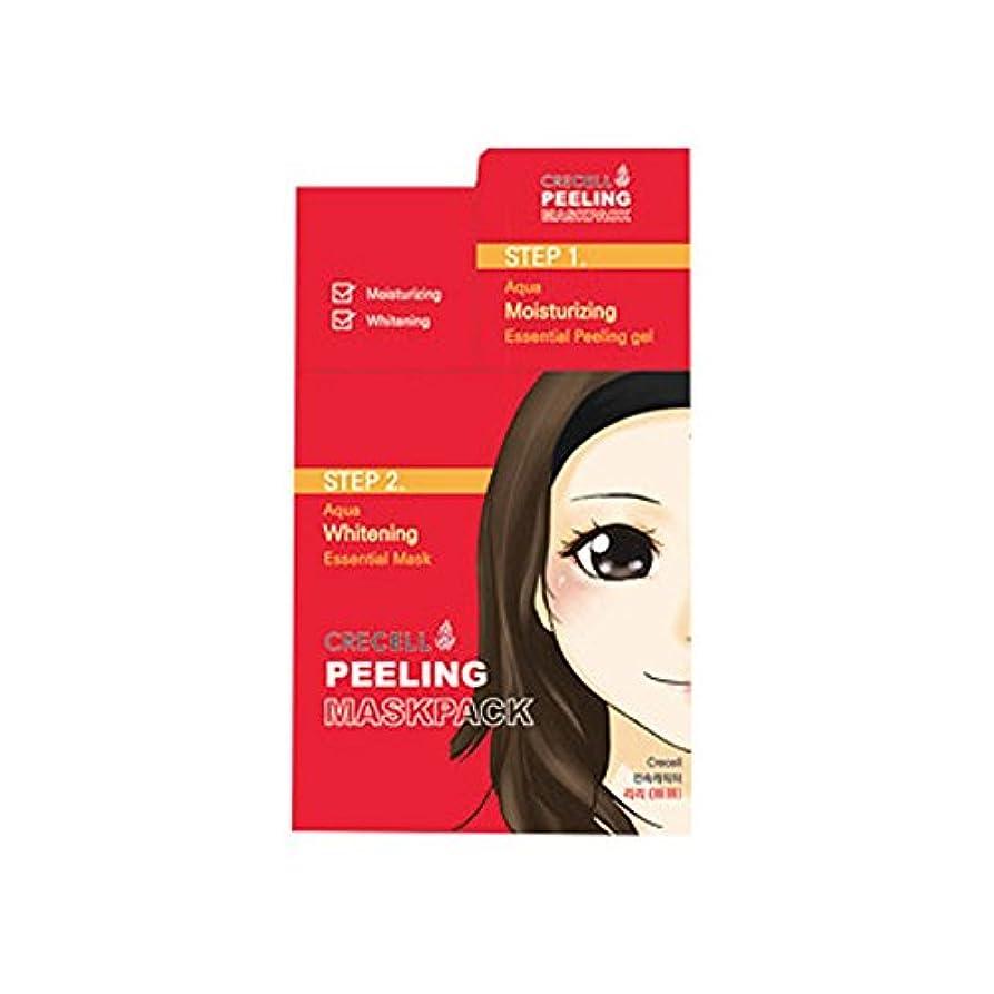 CRECELL Aqua Whitening Essential Mask 2STEP【クリセルアクアホワイトニングエッセンシャルマスク 2ステップ】シートマスク フェイスパック オールインワン 韓国コスメ - 1ステップ...