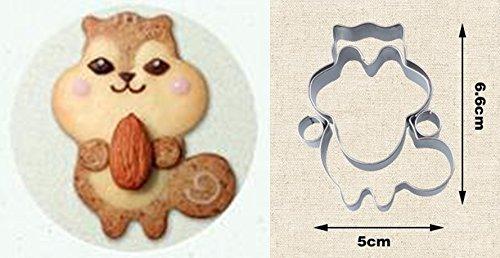 YouBinYa クッキー 抜き 型 リス クマ タヌキ 3種 セット 手作り お菓子 チョコ クリスマス プレゼント ハロウィン