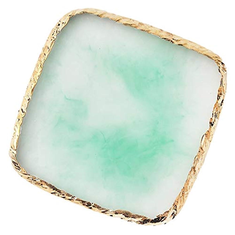 時間とともにアルコーブ酸度T TOOYFUL ネイルパレット ネイルアート トレイ 樹脂製 顔料 カラー ディスプレイボード スクエア型 全6色 - 緑