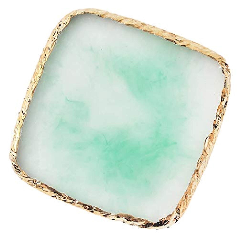 T TOOYFUL ネイルパレット ネイルアート トレイ 樹脂製 顔料 カラー ディスプレイボード スクエア型 全6色 - 緑