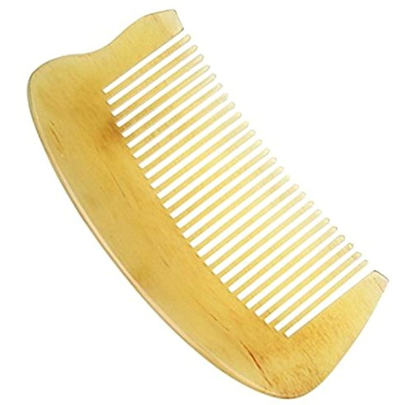 ベアリングサークル大胆な天の櫛型 プロも使う羊角かっさプレート マサージ用 血行改善 高級 天然 静電気 防止 美髪