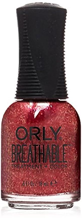 自然著作権わずかなOrly Breathable Treatment + Color Nail Lacquer - Stronger than Ever - 0.6oz / 18ml