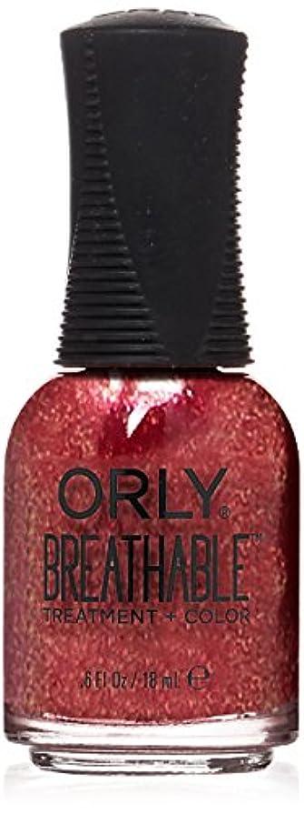 うめき声岩勘違いするOrly Breathable Treatment + Color Nail Lacquer - Stronger than Ever - 0.6oz / 18ml