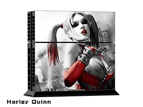 Harley Quinn Exclusive Original Decal Skin Stickers For Sony Playstation 4 PS4 Console + 2 Pcs Stickers For PS4 Controller ... by Free sticker [並行輸入品]