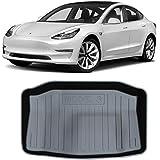 Tesla Model 3 Accessories Hamkaw Front/Rear Trunk Floor Mat Suitable for All Tesla Model 3 (Black)
