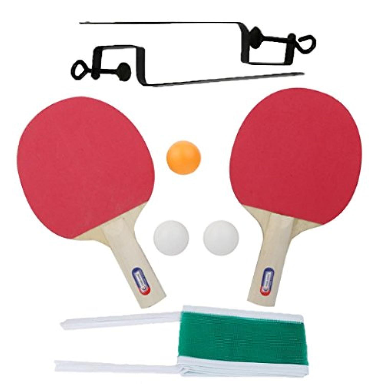 anshintoテーブルテニスとグリッドPing Pong Racketスポンジロングハンドル2つの側面子インドアスポーツ