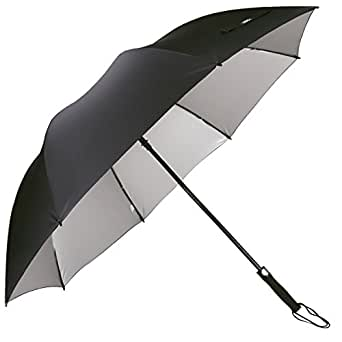 G4Free ゴルフ傘 シルバーコーティング uvカット 遮光コーディング 長傘 防風 丈夫 おしゃれ 自動開け 撥水加工 直径130cm 男女兼用 (ブラック#2)