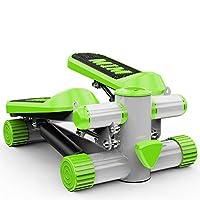 健康フィットネス脚腕と膝の回復のための調節可能なミニステッパーエクササイザバンド家庭用ジム油圧ミュートステッパー,green