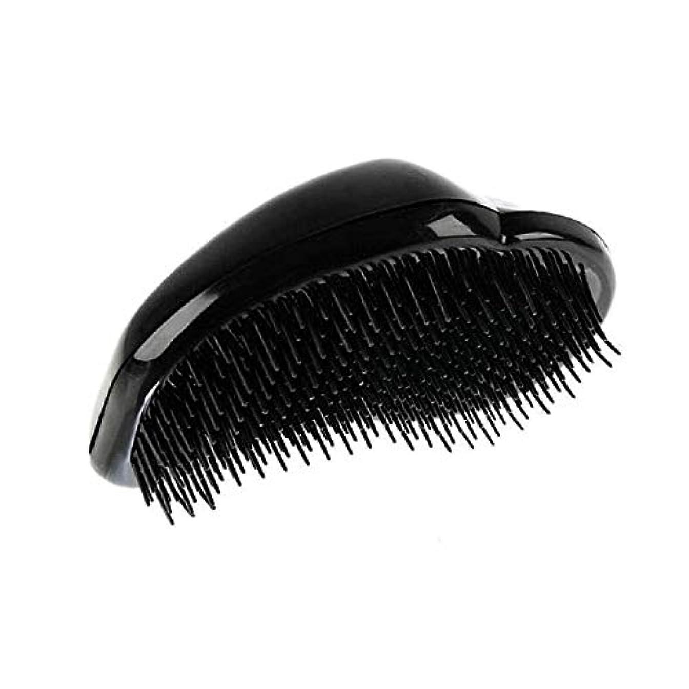 ためにアトミックケーブルカー1st market 黒のプラスチック製の髪の櫛理髪の櫛の女性のエアバッグの櫛のマッサージの櫛のヘアブラシ帯電防止デタングルの櫛パーフェクト軽量ポケットサイズ1ピース耐久性と便利