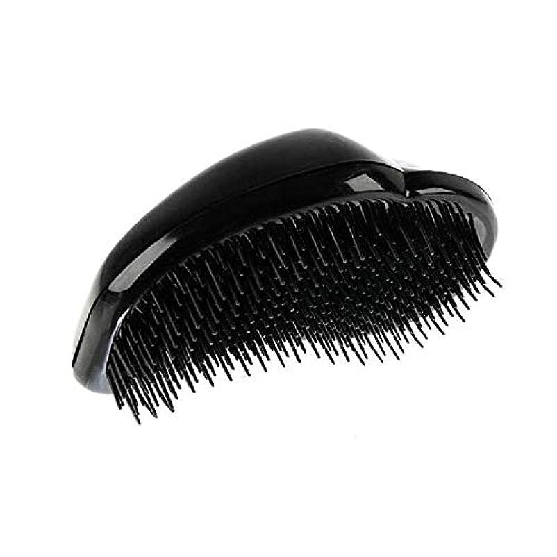 愛撫解明スライス1st market 黒のプラスチック製の髪の櫛理髪の櫛の女性のエアバッグの櫛のマッサージの櫛のヘアブラシ帯電防止デタングルの櫛パーフェクト軽量ポケットサイズ1ピース耐久性と便利