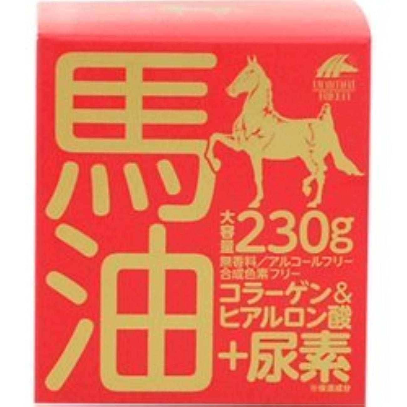 検体主導権キャンプ【ユニマットリケン】馬油クリーム+尿素 230g ×20個セット