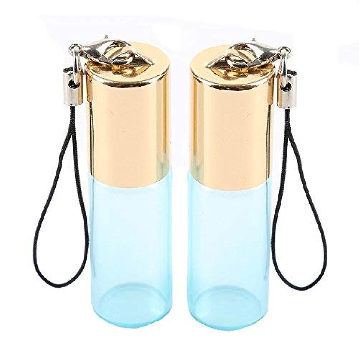 集まるエイリアン眼Empty Roller Bottles - Pack of 12 5ml Pearl Colored Glass Roll-on Bottles for Essential Oil Container with Golden...