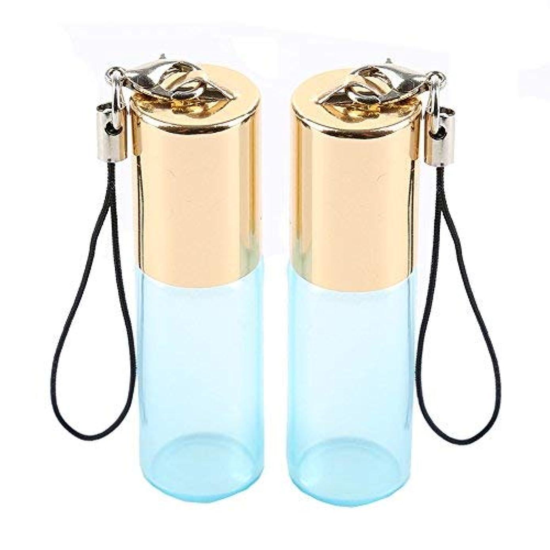 控えめな以来チケットEmpty Roller Bottles - Pack of 12 5ml Pearl Colored Glass Roll-on Bottles for Essential Oil Container with Golden...