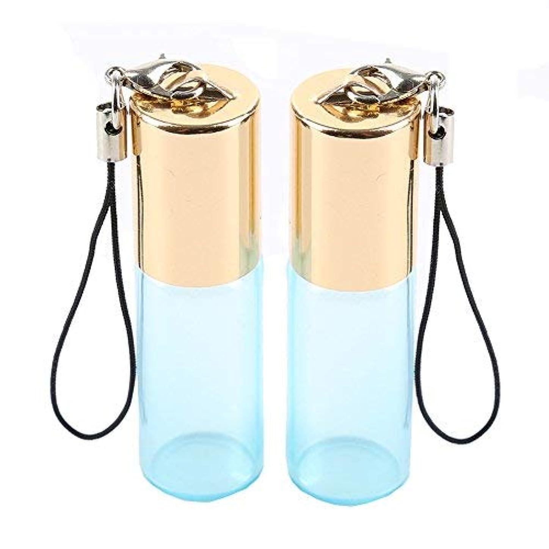 クラウン乗算格差Empty Roller Bottles - Pack of 12 5ml Pearl Colored Glass Roll-on Bottles for Essential Oil Container with Golden...