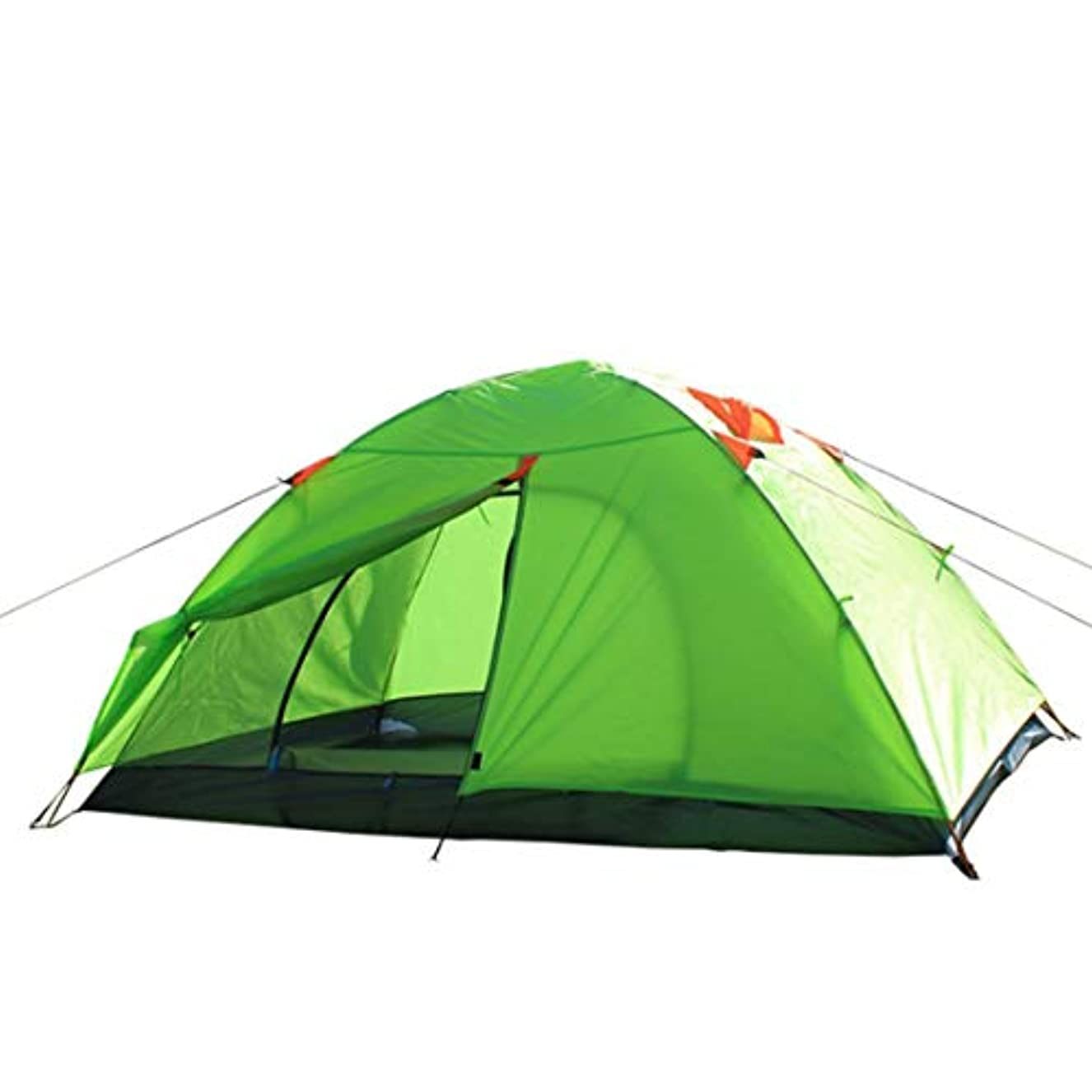 材料チョップ論争的Nekovan 2人用キャンプテント4シーズンダブルレインプロテクションバックパッキングテント屋外スポーツ用に組み立てる必要があります (色 : オレンジ)
