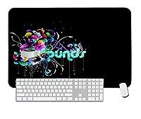 ゲーミングマウスパッドフーズワードを使用した楽器デスクトップおよびラップトップ用1パック800x400x3mm / 31.5x15.7x1.1 in