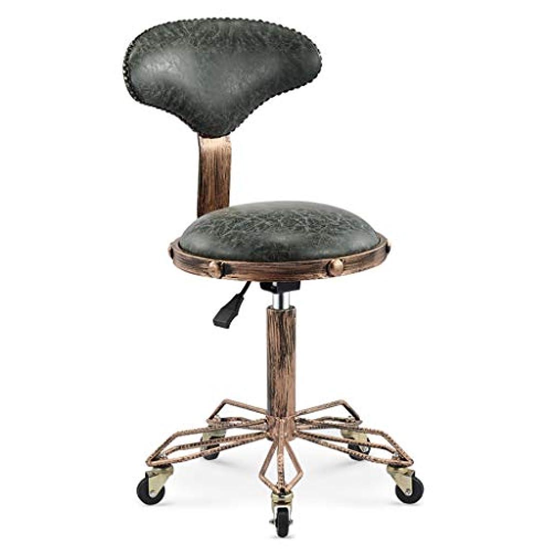 オーロック間違いインスタンス回転椅子-美容スツール理髪店の椅子ヘアサロンロータリーリフトスツールメイクヘアサロンプーリーチェア散髪 (Color : Dark green)