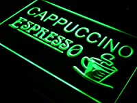 Cappuccino Espresso Coffee Cafe LED Sign LED看板 ネオンプレート サイン 標識 Display i317-g(c)
