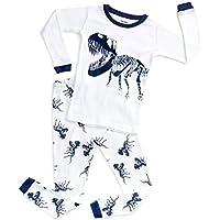 DinoDee Kids Pajamas Boys Girls 2 Piece Pjs Set Christmas Styles 100% Cotton (2 Toddler-10 Years)