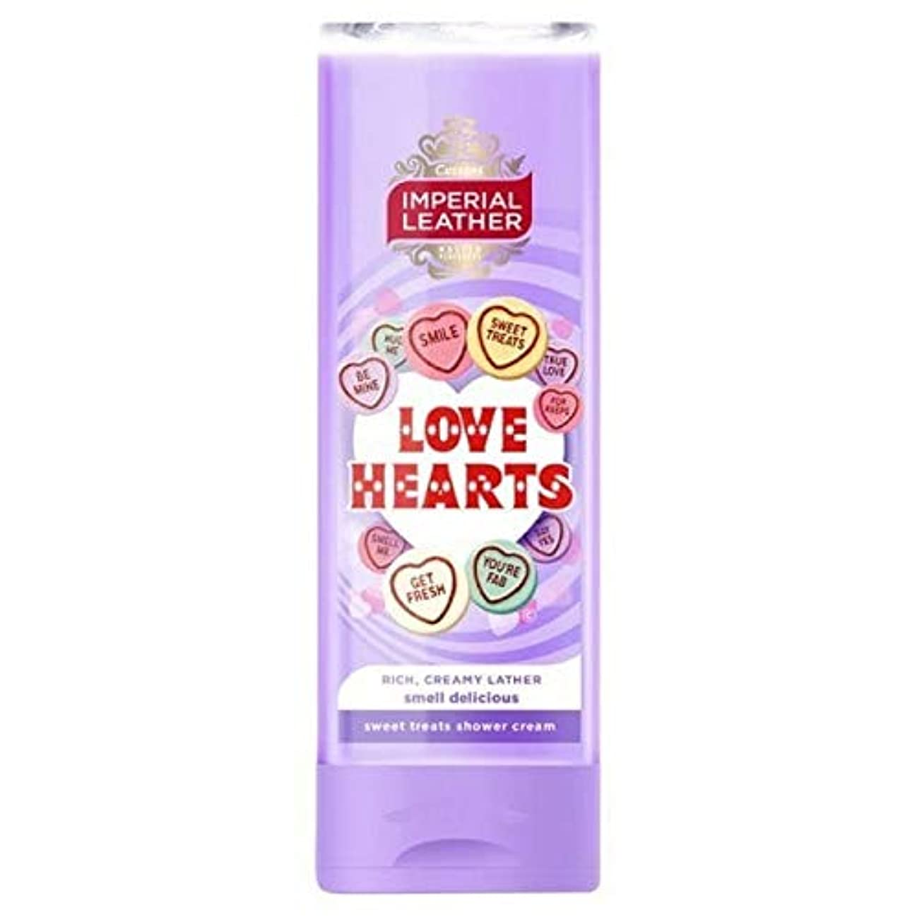 [Imperial Leather ] 帝国革の愛の心シャワージェル250ミリリットル - Imperial Leather Love Hearts Shower Gel 250ml [並行輸入品]