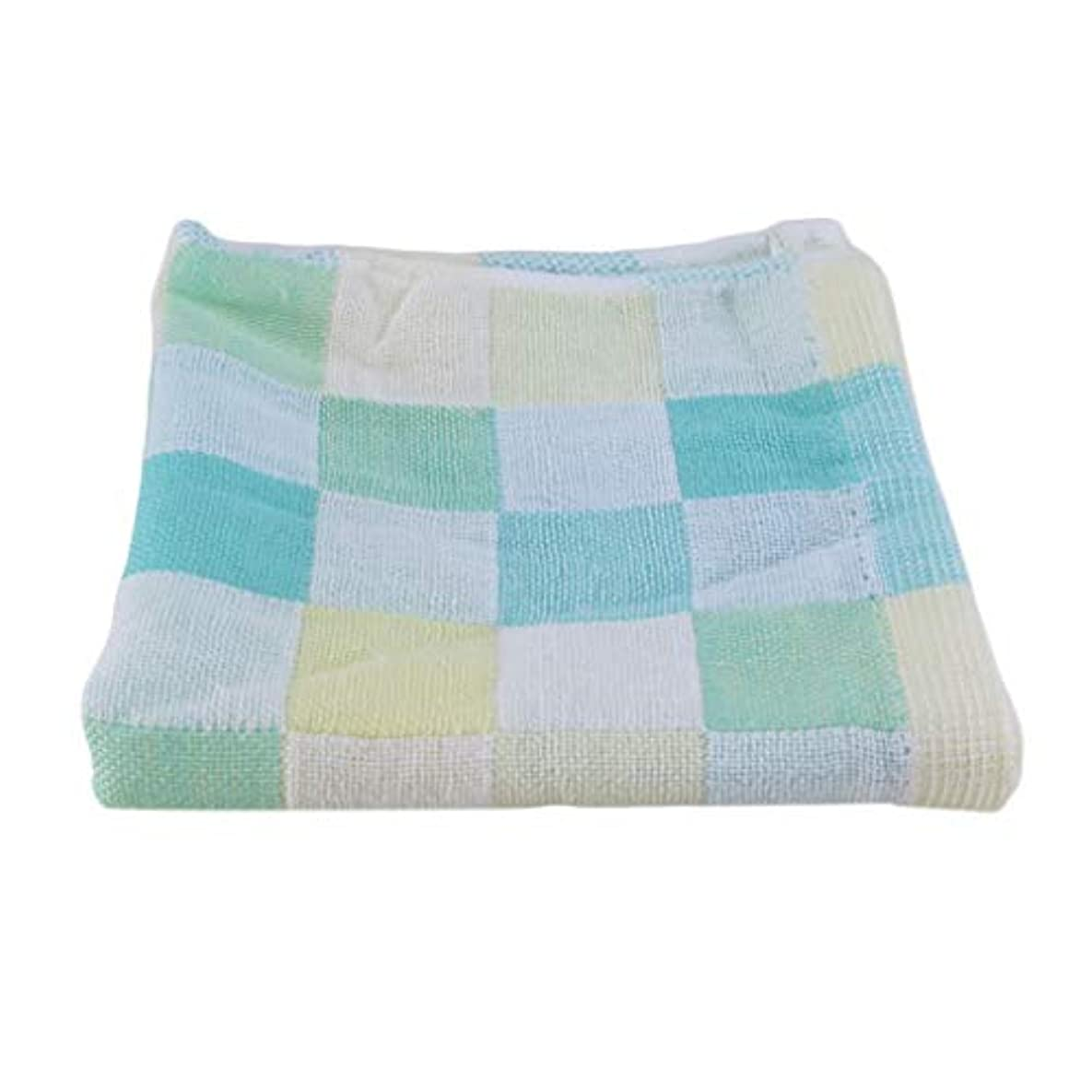 朝の体操をする有益集まるMaxcrestas - 28*28cm Square Towels Cotton gauze Plaid Towel Kids Bibs Daily Use Hand Face Towels for Kids