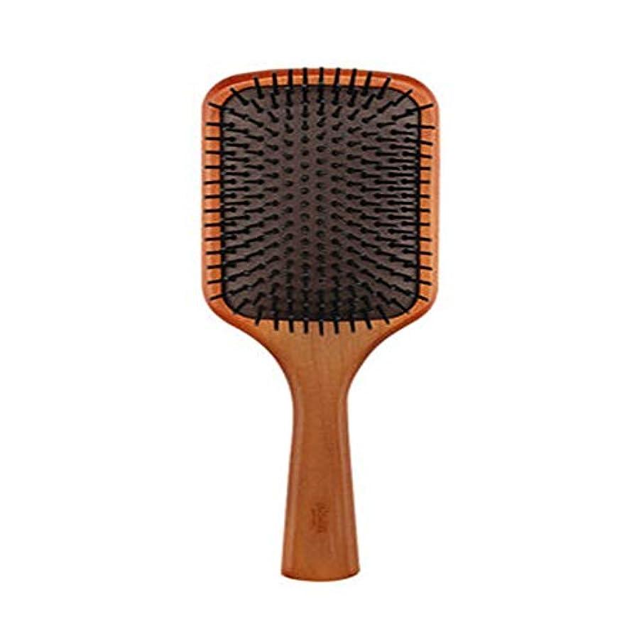 オール偏差ペネロペエアクッションヘアケアくし、男性と女性の髪サロンエアバッグ、マッサージくしウッドフレキシブルコンフォートハンドルグッド細かい歯を感じる洗えるスムース (Size : 6.5x19.4cm)