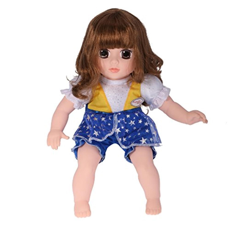 Fenteer ぬいぐるみ ゴールデンブラウンヘア ドール ガール 素敵 人形 赤ちゃん 睡眠用 玩具 ギフト プレゼント
