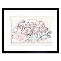 Map Orbis Ptolemaei Framed Wall Art Print 地図壁