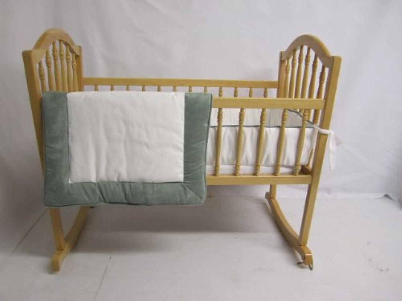 Baby Doll Bedding Zuma Cradle Bedding Set, Seafoam by BabyDoll Bedding