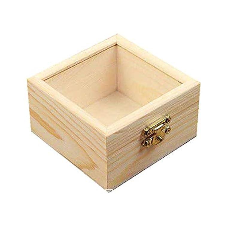 動触手ジャズエッセンシャルオイルの保管 プレゼンテーション用木製エッセンシャルオイルボックスパーフェクトエッセンシャルオイルケース (色 : Natural, サイズ : 8.5X8.5X5CM)
