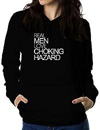Real men love Choking Hazard 女性 フーディー