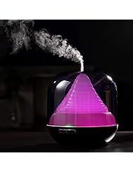 300ml 家庭用エッセンシャルオイルディフューザー、加湿器、1、3、6時間タイマー、7色変更 LED ランプアロマディフューザー、水なし自動空気清浄機