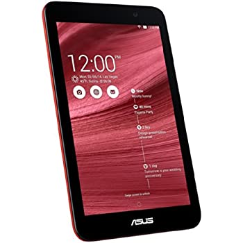 ASUS ME176 MeMO Pad 7 タブレットPC レッド ( Android 4.4.2 / 7 inch / Atom Z3745 / 1GB / eMMC 16G / WIFI対応 ) ME176-RD16